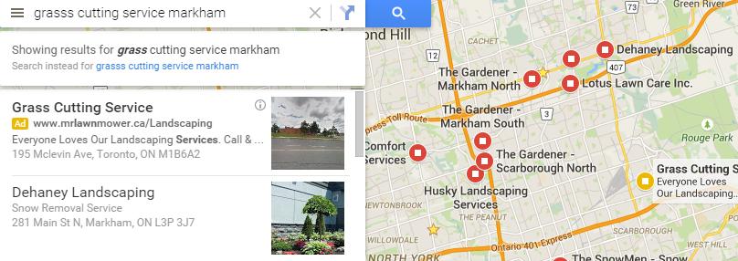 Local Google Maps - grass cutting
