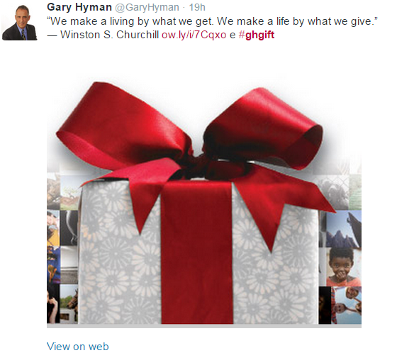 Twitter ad campaign - gift and give
