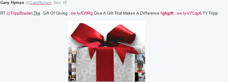 Twitter ad campaign - gift
