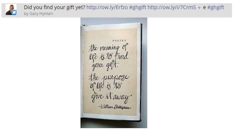 Twitter ad campaign - the big gift