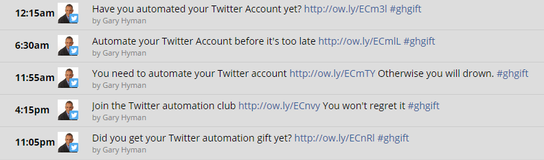 Automated Twitter ad campaign